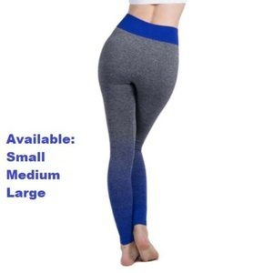 Gray with Blue Fade Yoga Pants